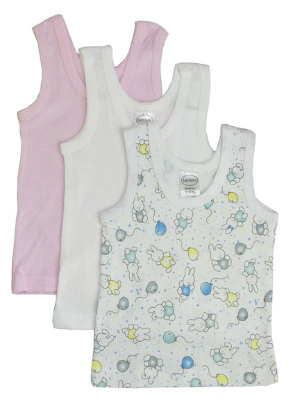 Bambini Girls Printed Tank Top Variety 3 Pack