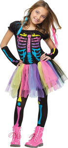 Funky Punky Bones Child Costume 8-10
