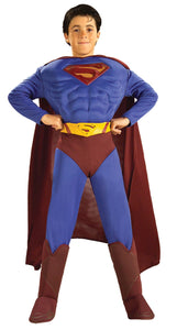 Superman Muscle Chest Boys Costume Small