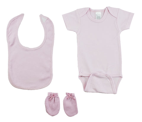 Pink 3 Piece Baby Clothes Set