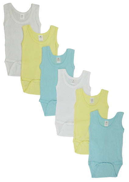 Boys Tank Top Onezies 6 Pack