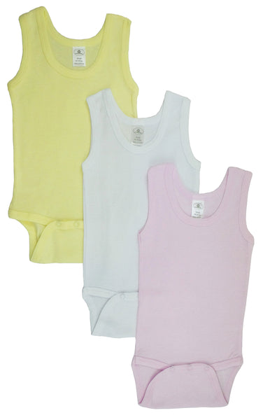 Girls Tank Top Onezies (Pack of 3)