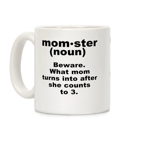 Momster Definition Ceramic Coffee Mug by LookHUMAN