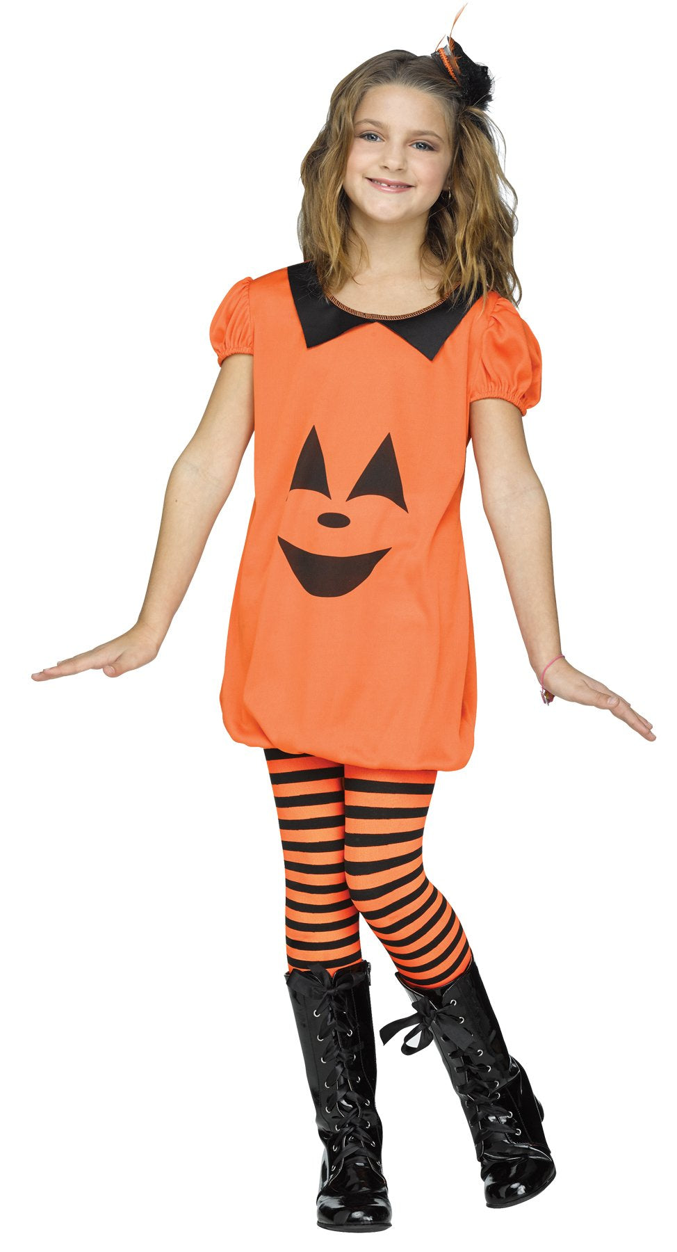 Pumpkin Romper Child Medium 8-10