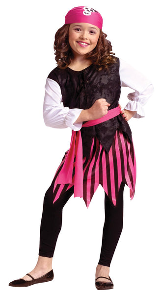 Caribbean Pirate Girl Child Costume 12-14