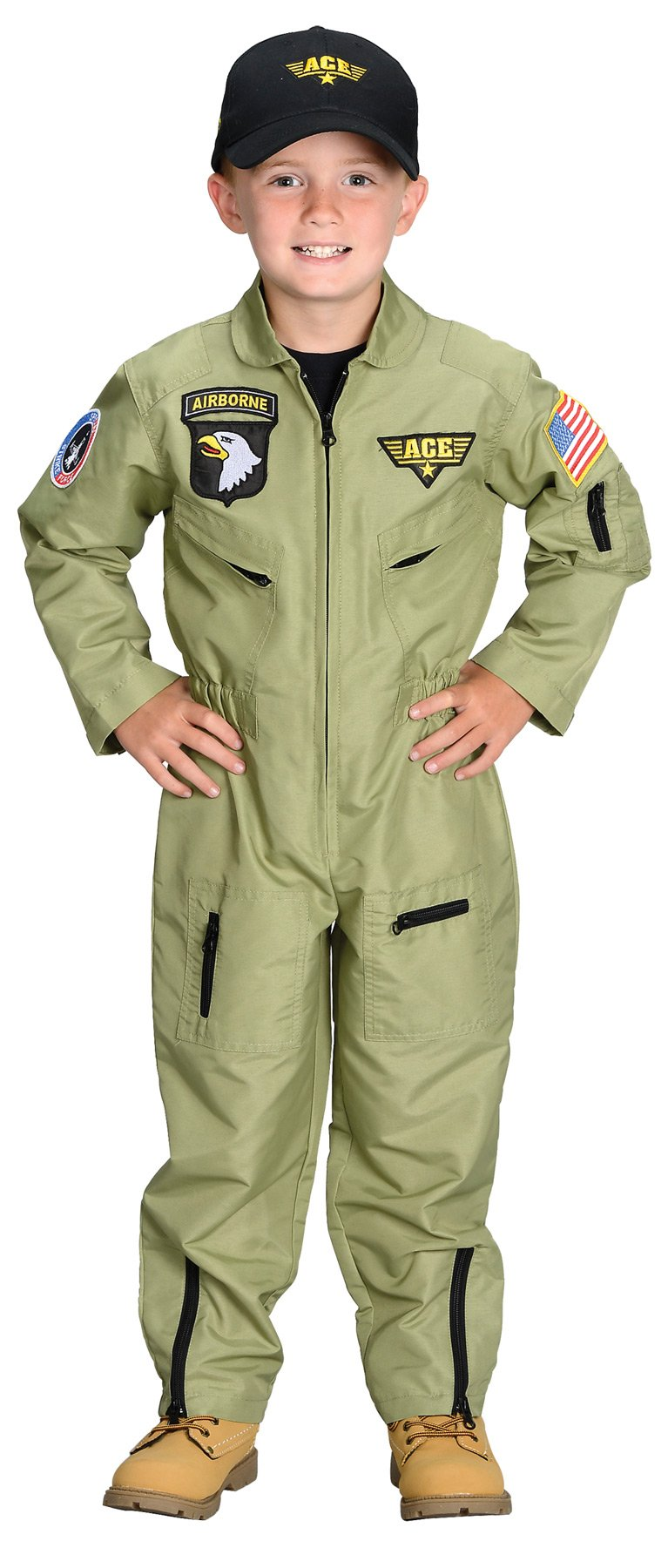 Fighter Pilot Boys Costume Large 8-10