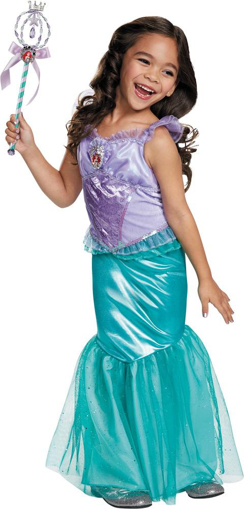 Ariel Disney Deluxe Girls Costume 4-6