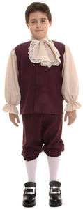 Colonial Boys Costume Sm