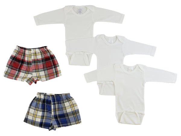 Infant Long Sleeve Onezies and Boxer Shorts