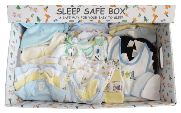 Boy 72 Piece Baby Starter Set Box