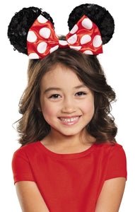 Minnie Red Sequin Child Costume Ears