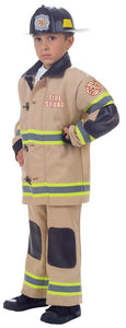Firefighter Boys Costume Tan Md 6-8