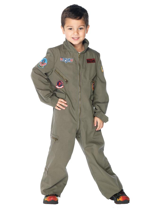 Top Gun Flight Suit Boys Costume Lg