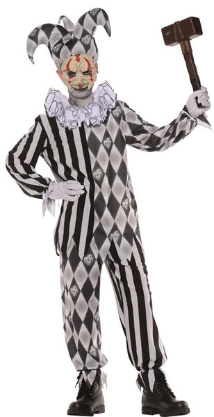 Evil Harlequin Mask Only Boys Costume Medium 6-8