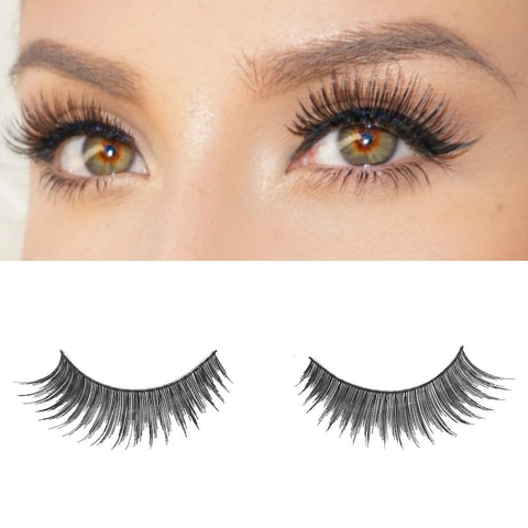 Sassy Vegan False Lashes Black Natural Thick Long Full Reusable Fake Strip Eyelashes