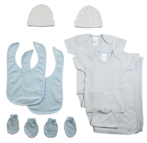 Boys 9 Piece Blue Layette Set