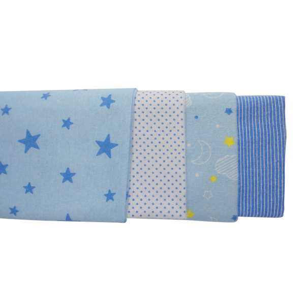 Bambini Blue Four Pack Receiving Blanket