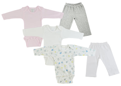 Infant Girls Long Sleeve Onezies and Track Sweatpants