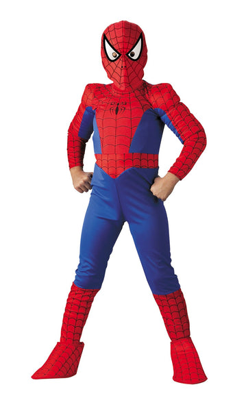 Spiderman Deluxe Boys Costume Comic 12 To 1