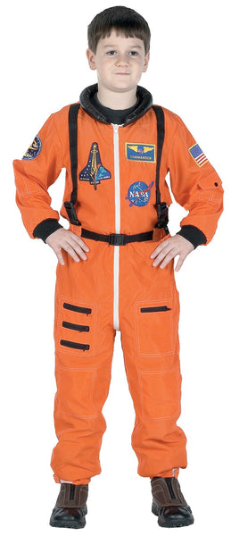 Boys Costume Astronaut Suit Orange Md