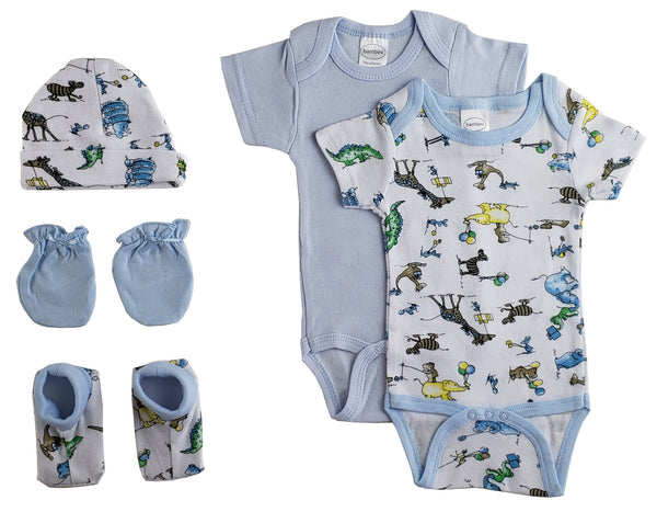 Bambini Newborn Baby Boys 5 Pc Layette Baby Shower Gift Set