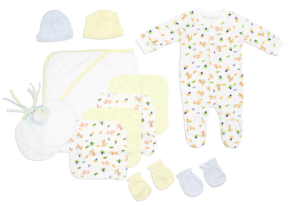 Bambini Newborn Baby Boys 13 Pc Layette Baby Shower Gift Set