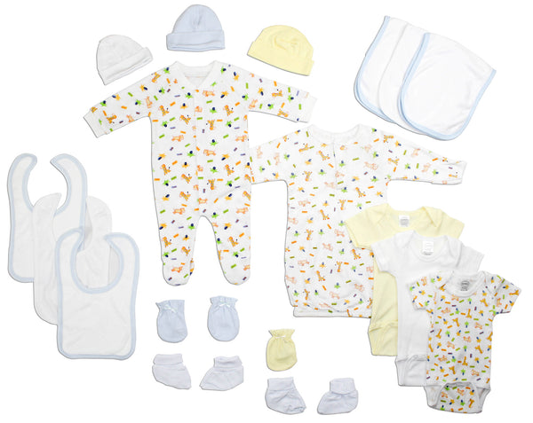 Bambini Newborn Baby Boys 18 Pc Layette Baby Shower Gift Set