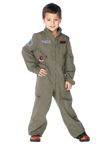 Top Gun Flight Suit Boys Costume Md