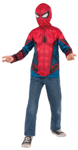 Spiderman Shirt Mask Boys Costume Medium