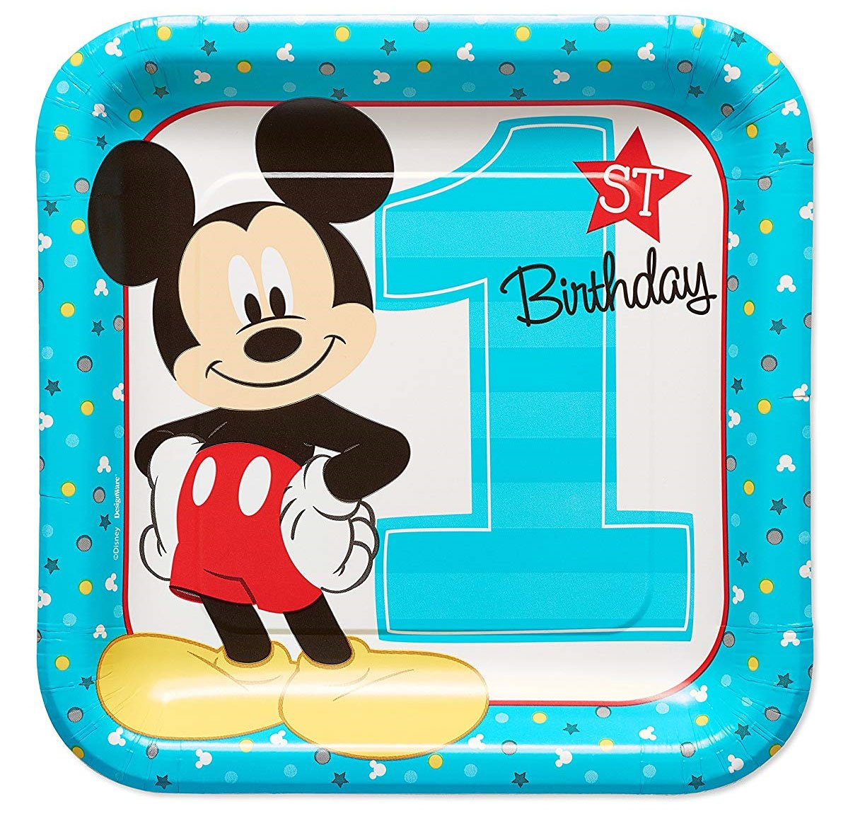 Mickey Mouse 9 Inch Plates -Set of 8
