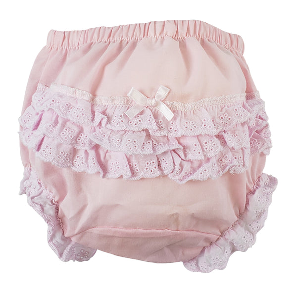 "Pink Girl's Cotton/Poly ""Fancy Pants"" Underwear"
