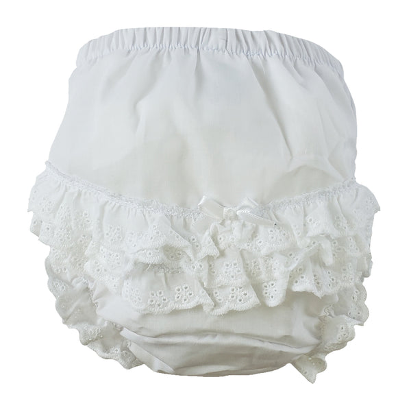 "White Girl's Cotton/Poly ""Fancy Pants"" Underwear"