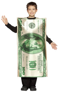 100 Dollar Bill Boys Costume 7-10