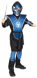 Raven Ninja Blue Chrome Boys Costume Medium 8-10