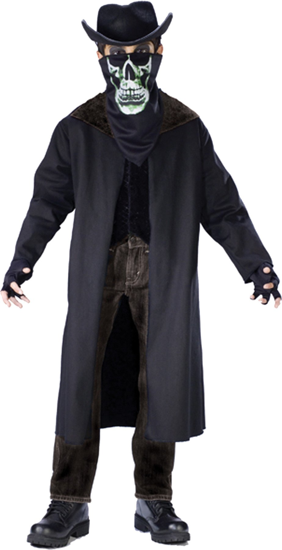 Evil Outlaw Boys Costume Large No Hat