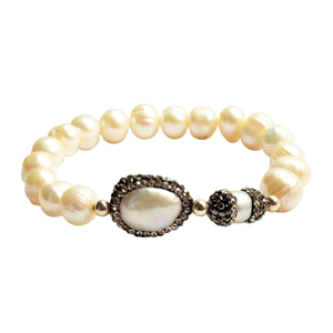 Sheba Pearl and Crystal Bracelet