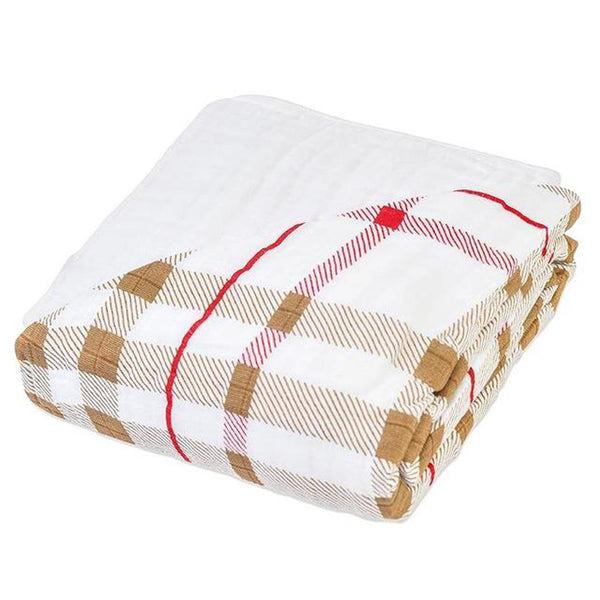 Teddy Bear & Plaid Newcastle Blanket