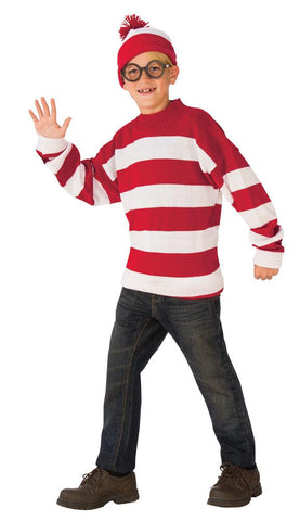 Wheres Waldo Deluxe Boys Costume Lg