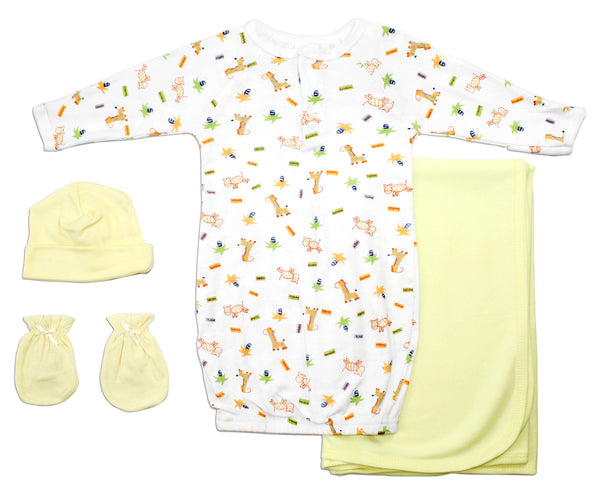 Bambini Girls' 4 Piece Layette Set
