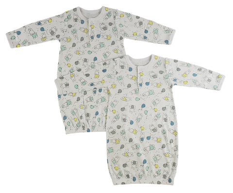 Bambini Infant Gowns - 2 Pack