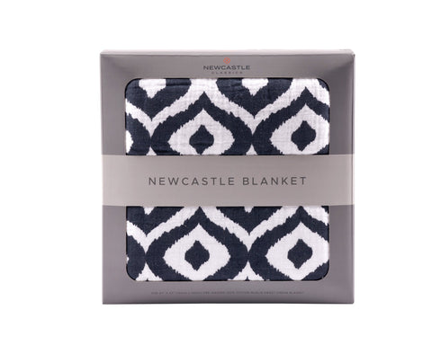 Moroccan Blue Newcastle Blanket -