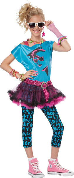 80s Valley Girl Tween Costume Large 10-12