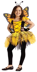 Ballerina Butterfly Gold Child Costume 12-14