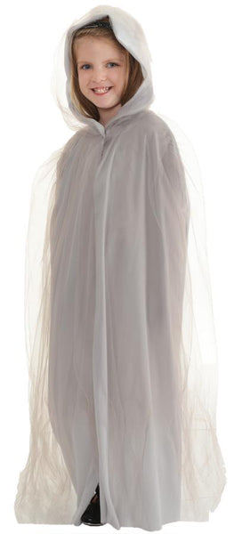 Cape Tulle Child Costume Grey