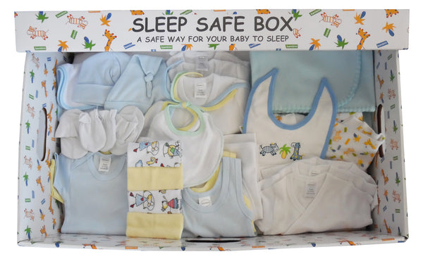 Boy 29 Piece Baby Starter Set Box