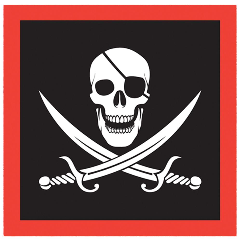 Pirate Lunch Napkins -Set of 16