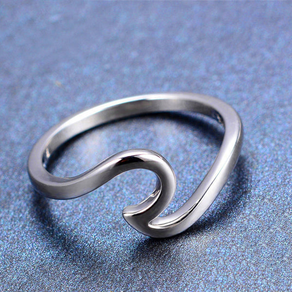 Handmade Ocean Wave Ring