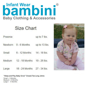 Bambini Long Sleeve White Onezie 6 Pack