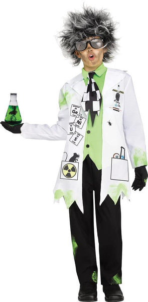 Mad Scientist Boy Boys Costume Sm 4-6