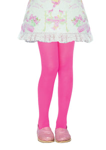 Tights Child Costume Neon Pink 11-13
